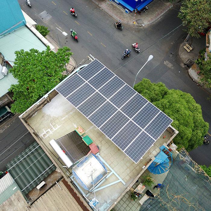 Dự án hòa lưới áp mái 5KW cho gia đình chú Sĩ ở Tân Phú 2