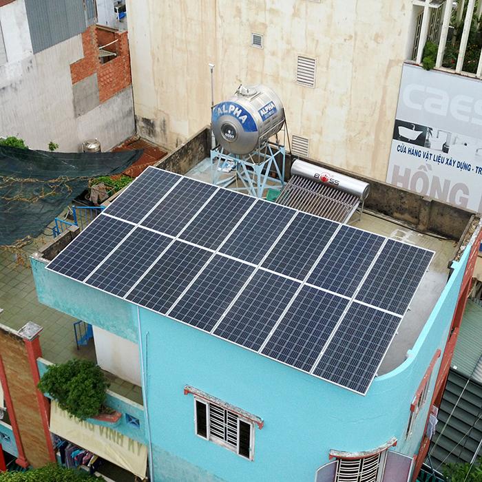 Dự án hòa lưới áp mái 5KW cho gia đình chú Sĩ ở Tân Phú 5