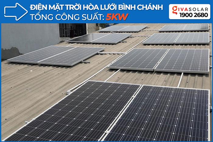 dự án hòa lưới điện mặt trời 5KW cho anh Thuận ở Bình Chánh