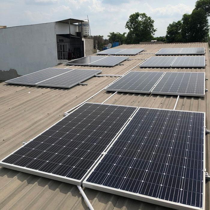 dự án hòa lưới điện mặt trời 5KW cho anh Thuận ở Bình Chánh 1
