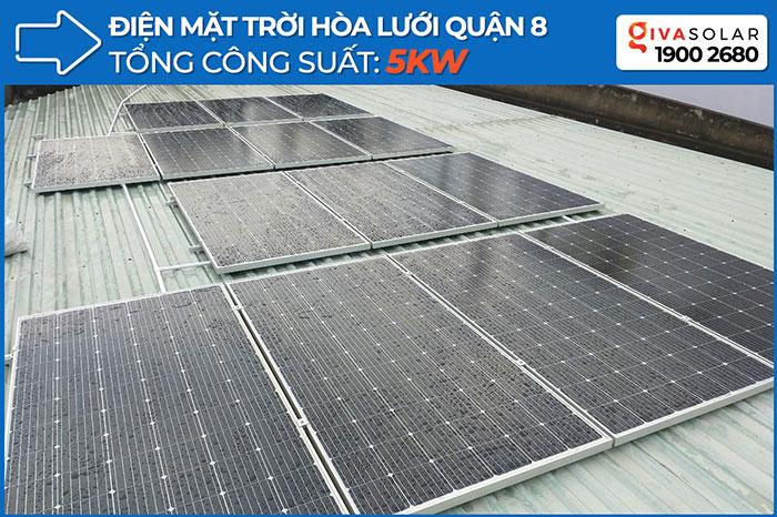 Dự án hòa lưới điện mặt trời 5KWp cho gia đình chị Mai ở Quận 8 1