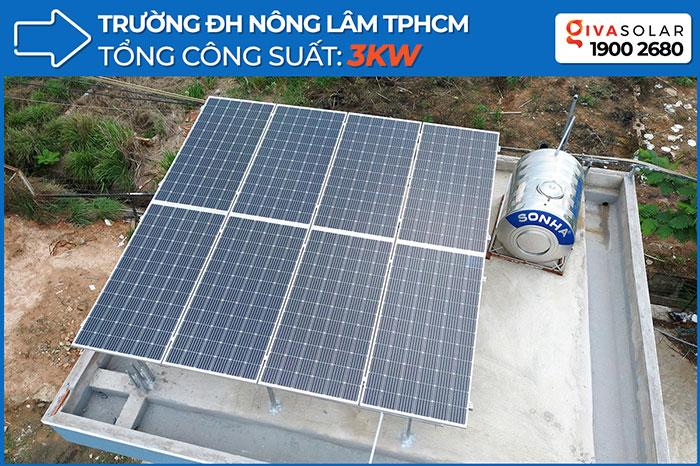 Dự án năng lượng mặt trời cho Trường ĐH Nông Lâm TPHCM