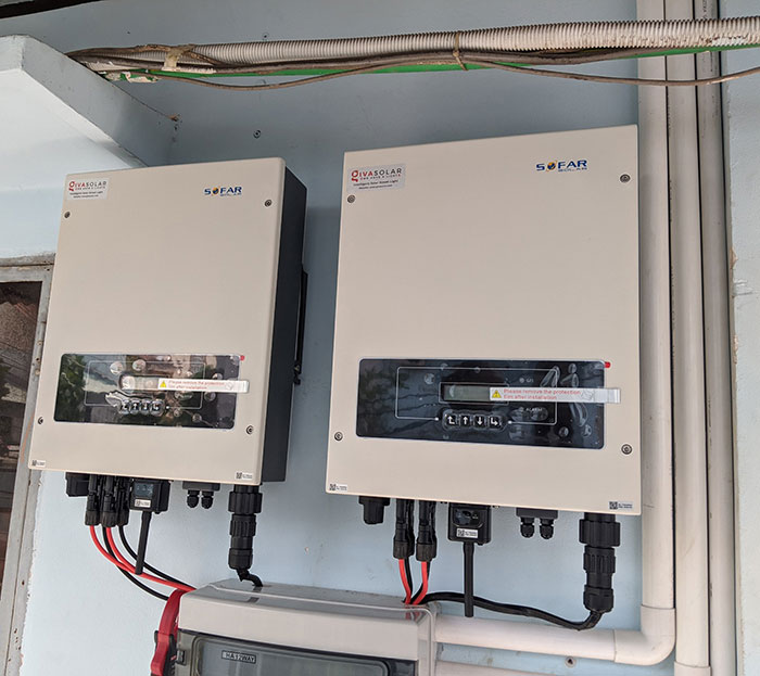 dự án điện mặt trời hòa lưới 12 KW cho anh Trí ở Tân Phú 10