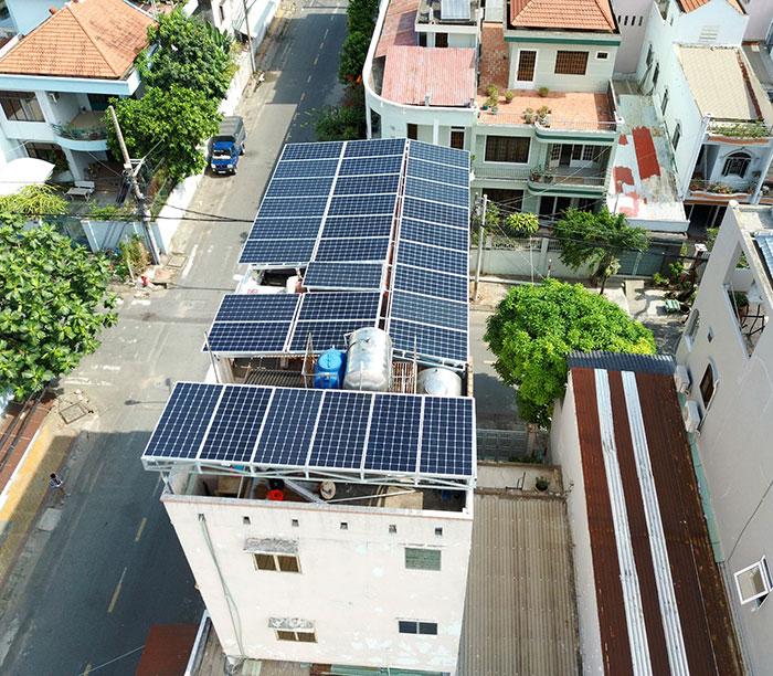 dự án điện mặt trời hòa lưới 12 KW cho anh Trí ở Tân Phú 5