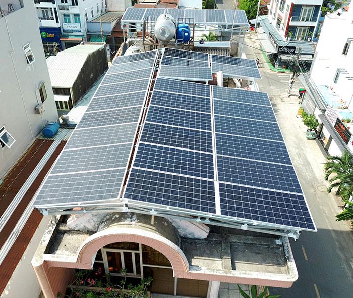 dự án điện mặt trời hòa lưới 12 KW cho anh Trí ở Tân Phú 6