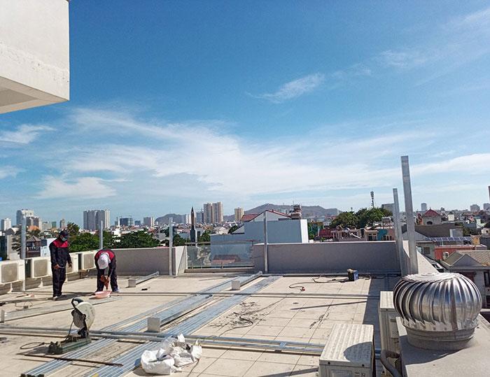 Lắp đặt hệ thống điện mặt trời nối lưới 12KW cho khách sạn GIA AN ở Bà Rịa Vũng Tàu 4