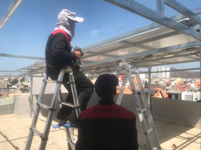 Lắp đặt hệ thống điện mặt trời nối lưới 12KW cho khách sạn GIA AN ở Bà Rịa Vũng Tàu 6