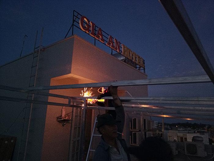 Lắp đặt hệ thống điện mặt trời nối lưới 12KW cho khách sạn GIA AN ở Bà Rịa Vũng Tàu 7