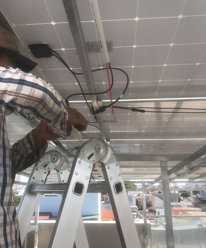Lắp đặt hệ thống điện mặt trời nối lưới 12KW cho khách sạn GIA AN ở Bà Rịa Vũng Tàu 9