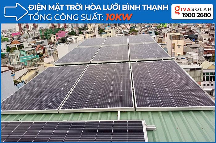 Hòan thành dự án hòa lưới điện mặt trời 10KW cho anh Trí ở Bình Thạnh 1