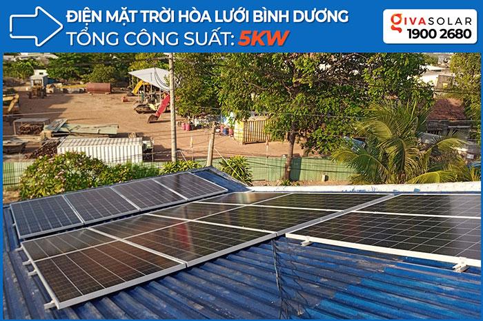 dự án hòa lưới điện mặt trời 5KW cho chú Vũ ở Bình Dương