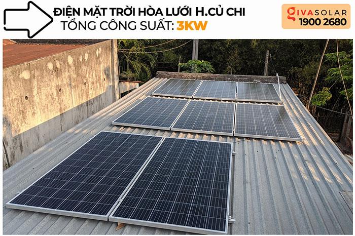 dự án điện mặt trời hòa lưới 3KW cho gia đình chị Oanh ở Củ Chi 1