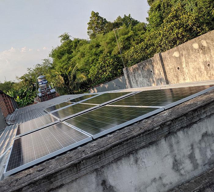 dự án điện mặt trời hòa lưới 3KW cho gia đình chị Oanh ở Củ Chi 2
