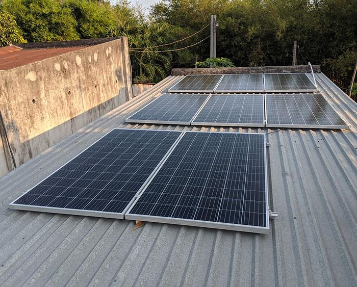 dự án điện mặt trời hòa lưới 3KW cho gia đình chị Oanh ở Củ Chi 3