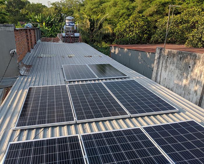 dự án điện mặt trời hòa lưới 3KW cho gia đình chị Oanh ở Củ Chi 4