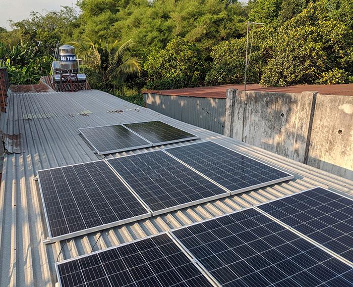 dự án điện mặt trời hòa lưới 3KW cho gia đình chị Oanh ở Củ Chi 5