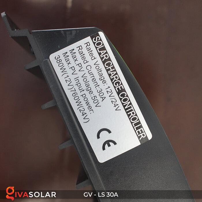 Bộ điều khiển sạc pin mặt trời GV-LS-30A 6