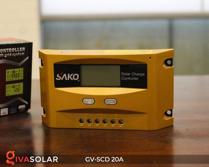 Bộ sạc năng lượng mặt trời GV-SCD-20A 1