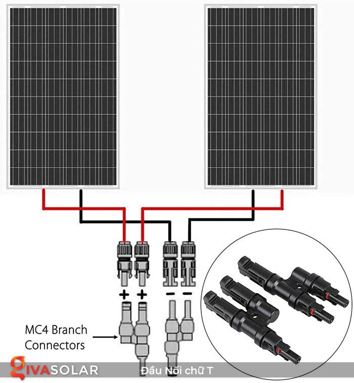 Cặp Đầu Nối MC4 Chữ T vào 2 ra 1 cho tấm pin 4