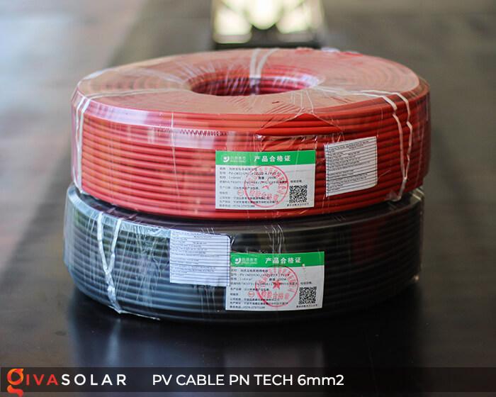 Dây cáp điện DC năng lượng mặt trời PN Tech 6mm2 2