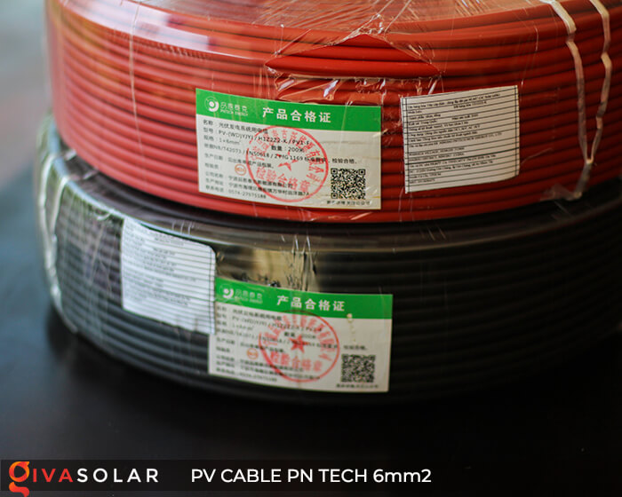 Dây cáp điện DC năng lượng mặt trời PN Tech 6mm2 3