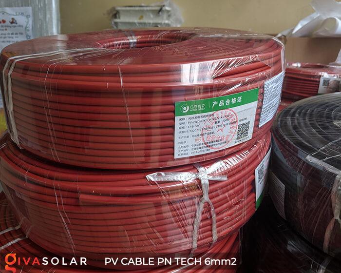 Dây cáp điện DC năng lượng mặt trời PN Tech 6mm2 7