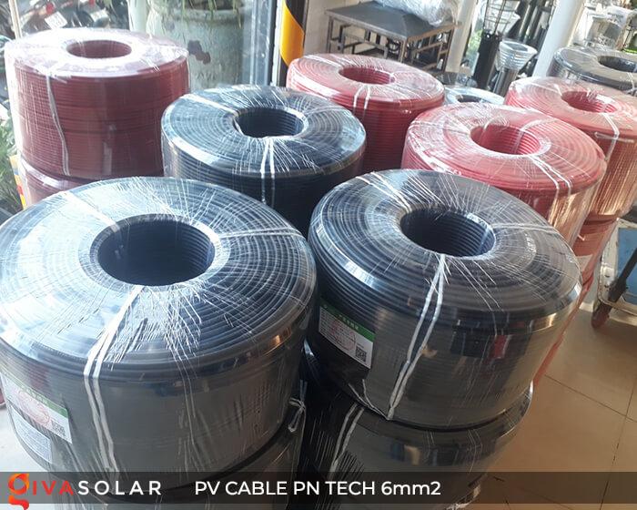 Dây cáp điện DC năng lượng mặt trời PN Tech 6mm2 9