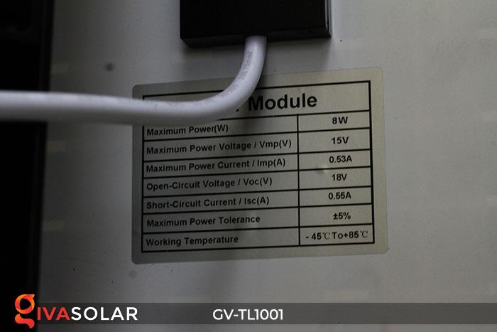 Đèn LED cảnh báo giao thông năng lượng mặt trời GV-TL1001 10