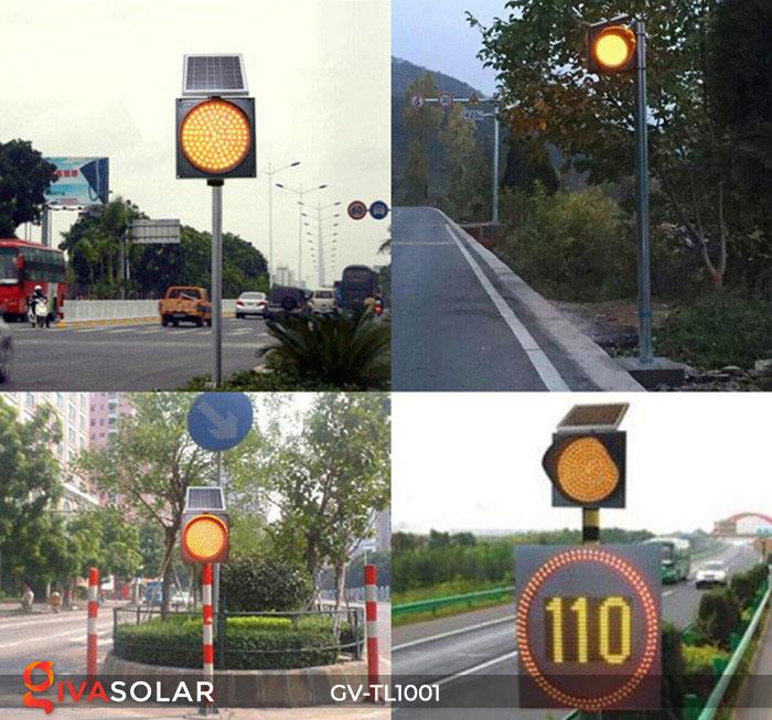 Đèn LED cảnh báo giao thông năng lượng mặt trời GV-TL1001 16