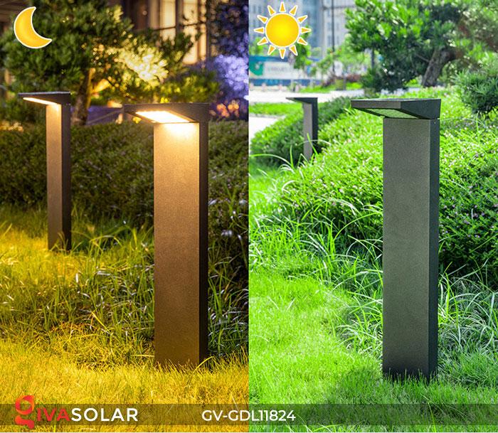 Đèn trụ sân vườn năng lượng mặt trời GV-GDL11824 2