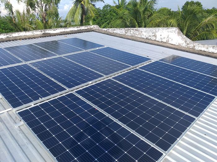 hệ thống điện mặt trời hòa lưới 5KW Anh Mến Cần Thơ 2