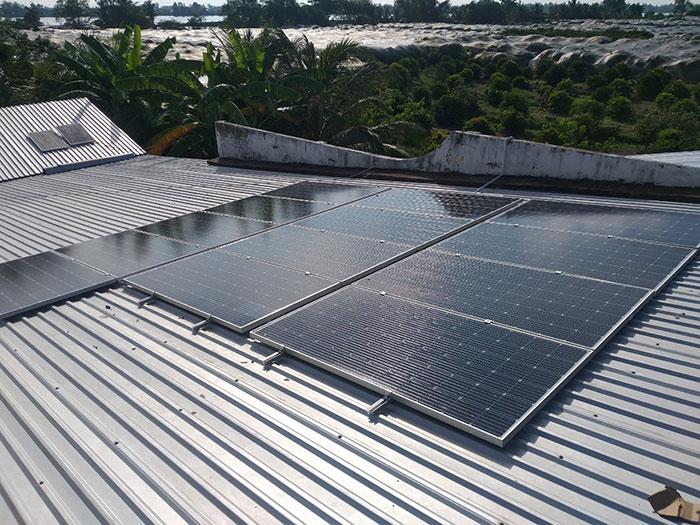 hệ thống điện mặt trời hòa lưới 5KW Anh Mến Cần Thơ 5