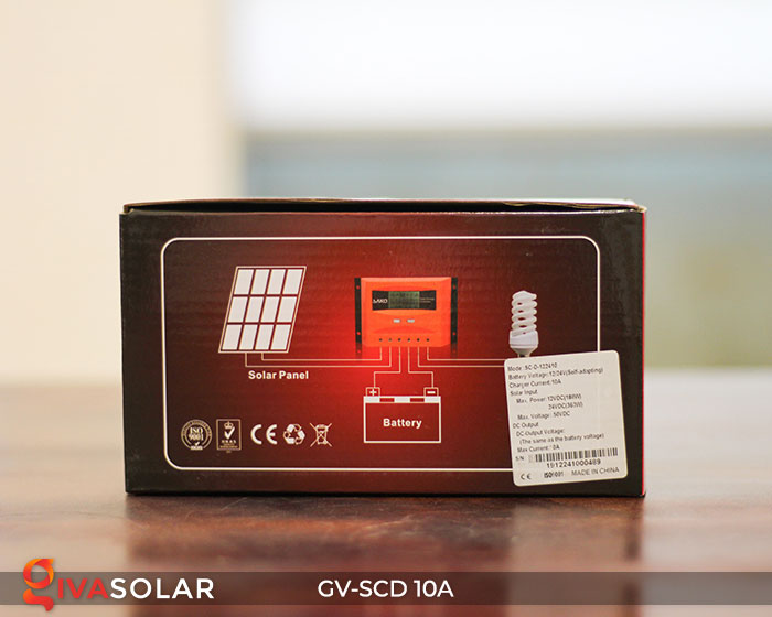 Điều khiển sạc pin năng lượng mặt trời GV-SCD-10A 8