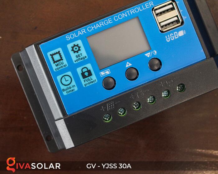 Điều khiển sạc năng lượng mặt trời GV-YJSS-30A 5