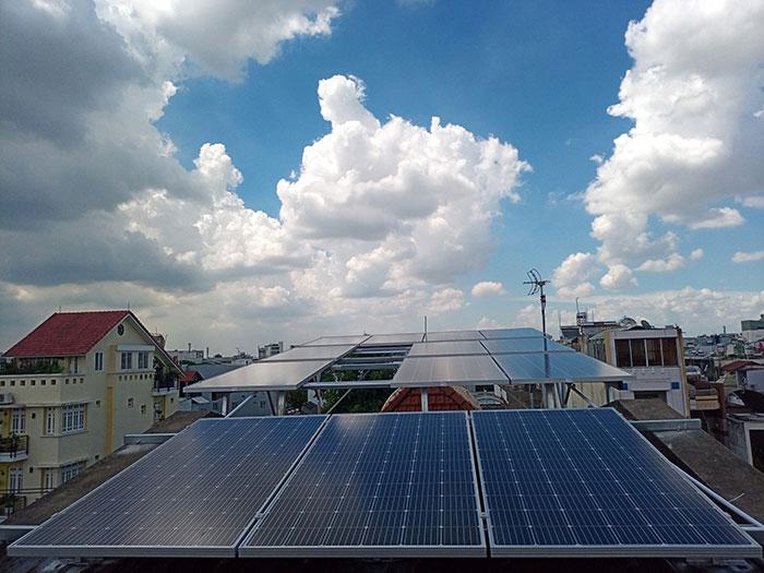hệ thống điện mặt trời hòa lưới 5KW Anh Dũng Tân Phú 1