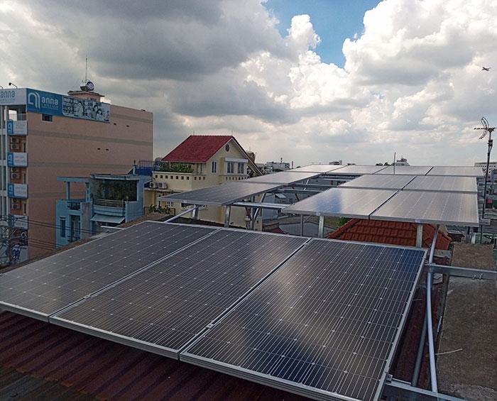 hệ thống điện mặt trời hòa lưới 5KW Anh Dũng Tân Phú 2