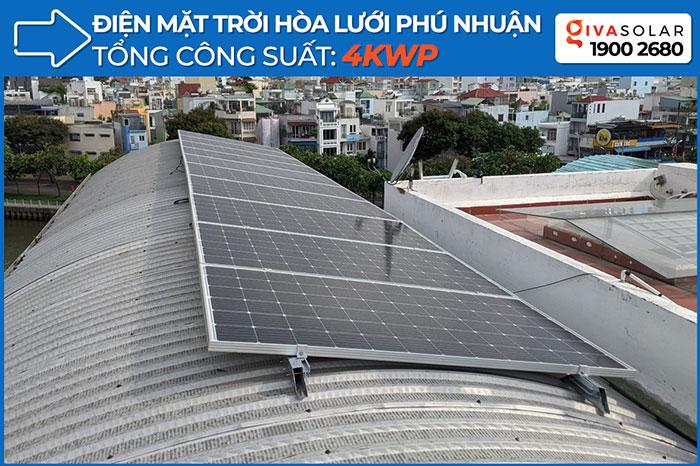 Dự án lắp đặt hệ thống hòa lưới điện mặt trời 4KWp ở Phú Nhuận
