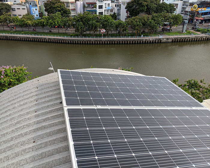 Dự án lắp đặt hệ thống hòa lưới điện mặt trời 4KWp ở Phú Nhuận 7