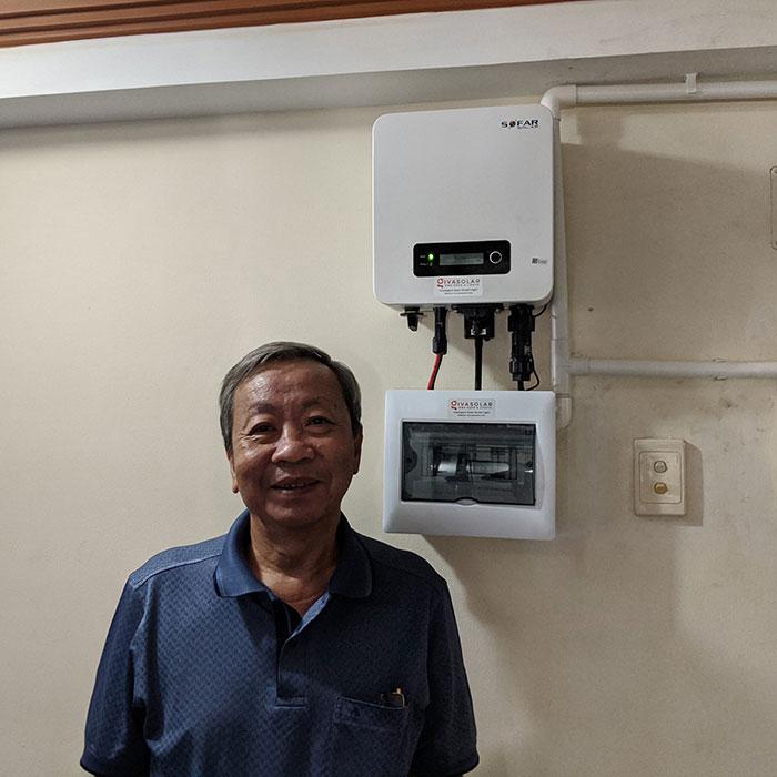 Dự án lắp đặt hệ thống hòa lưới điện mặt trời 4KWp ở Phú Nhuận 9