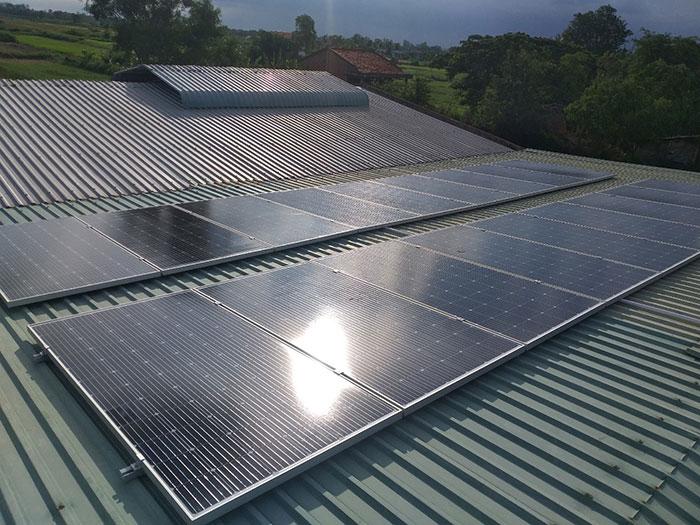 hệ thống năng lượng mặt trời 7KWp anh Lộc Bến Tre 1