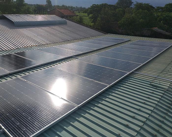 hệ thống năng lượng mặt trời 7KWp anh Lộc Bến Tre 3