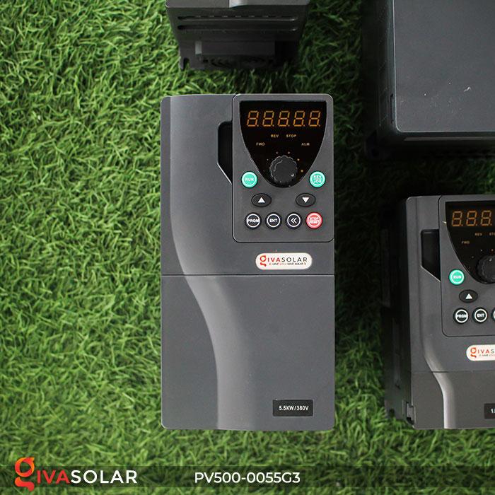 Inverter hệ thống bơm nước điện mặt trời PV500-0055G3 5.5KW 1