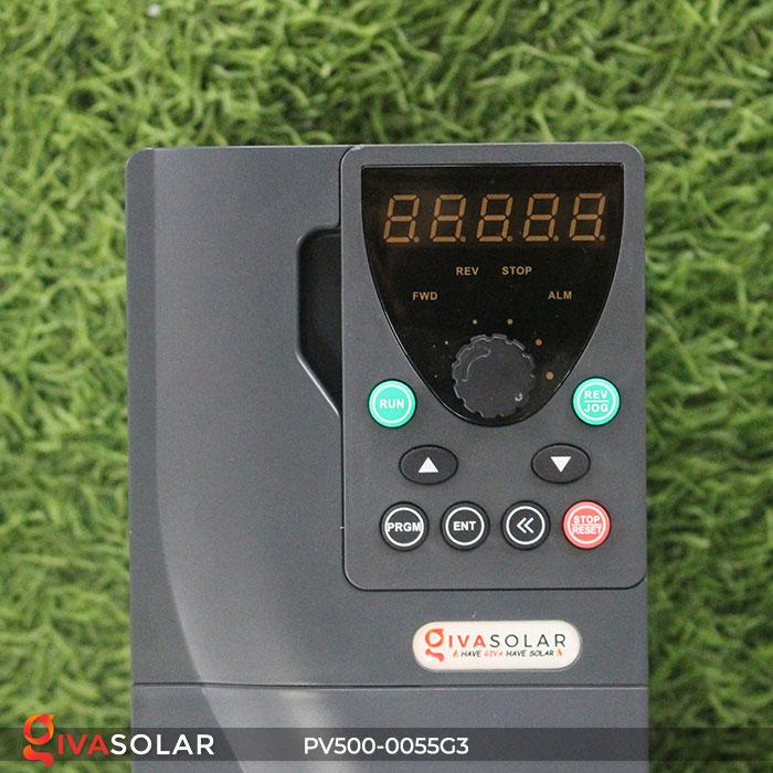 Inverter hệ thống bơm nước điện mặt trời PV500-0055G3 5.5KW 7