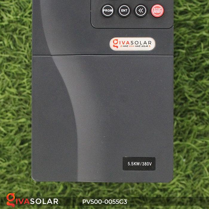 Inverter hệ thống bơm nước điện mặt trời PV500-0055G3 5.5KW 8