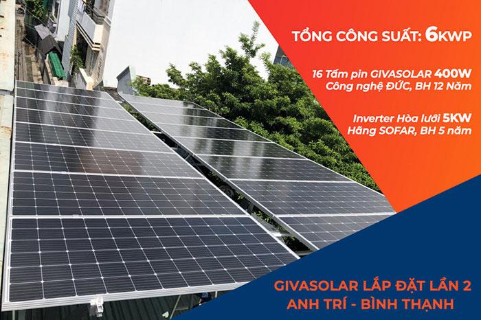 Lắp đặt Điện mặt trời Anh Trí ở Bình Thạnh 1