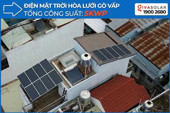 Lắp đặt hệ thống điện mặt trời hòa lưới 3 pha 5KWp cho anh Tuấn ở Gò Vấp