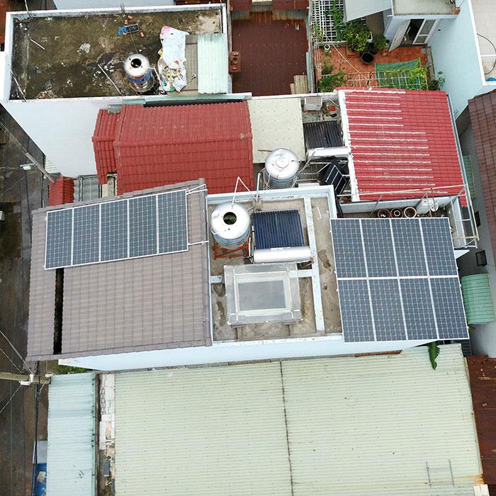 Lắp đặt hệ thống điện mặt trời hòa lưới 3 pha 5KWp cho anh Tuấn ở Gò Vấp 2