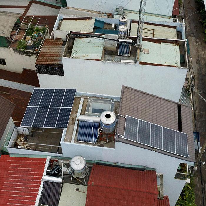 Lắp đặt hệ thống điện mặt trời hòa lưới 3 pha 5KWp cho anh Tuấn ở Gò Vấp 3