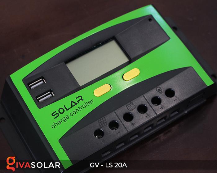 điều khiển sạc năng lượng mặt trời GV-LS-20A 4