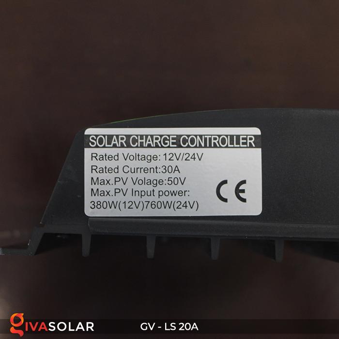 điều khiển sạc năng lượng mặt trời GV-LS-20A 7